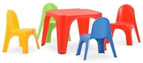316178 vidaXL Set pentru copii cu masă și scaun, PP