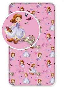 Lenjerie de pat din bumbac pentru copii Prinţesa Sofia, 90 x 200 cm