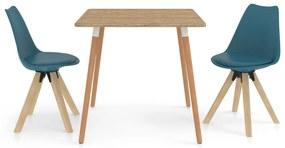 3057136 vidaXL Set mobilier de bucătărie, 3 piese, turcoaz