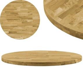 Blat de masă, lemn masiv de stejar, rotund, 44 mm, 600 mm