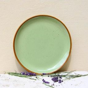 Farfurie intinsa Gardena din ceramica verde 24 cm