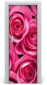Autocolante pentru usi perete trandafiri roz