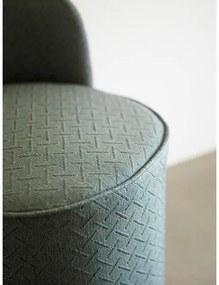 Puf cu Detaliu Auriu - Pin Verde Diametru(53cm) x Inaltime(62cm)