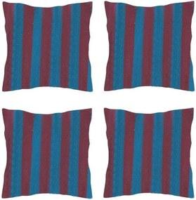 Set 4 Perne din bumbac pentru leagan sau hamac, 45x45cm, albastru/mov