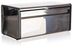 Cutie pâine Banquet Quadra, din inox, 39,5 x 20,5 x 18 cm, margine neagră
