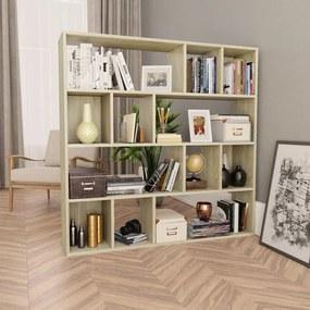 800363 vidaXL Separator cameră/Bibliotecă, stejar Sonoma, 110x24x110 cm, PAL