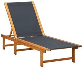 41745 vidaXL Șezlong din lemn de acacia