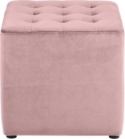 Taburet cu husă din catifea Actona Bryan, roz