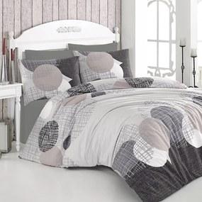 Lenjerie de pat din bumbac cu cearșaf și fețe de pernă Jadore, 200 x 220 cm