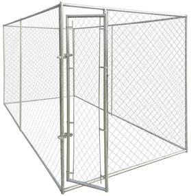 Padoc de exterior pentru câine, 4 x 2 m
