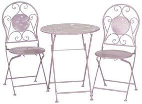 Set masa cu 2 scaune, metal, de exterior