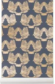 Tapet Birds - Hartie Verde Lungime(10.05 m) x Latime( 0.53 m)