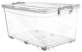 Orion Cutie de depozitare din plastic cu roți, 30 l