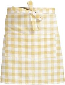 Șorț textil Linen Couture Delantal de Lino Yellow Vichy