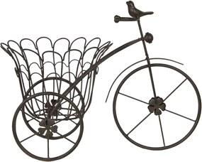 Suport ghiveci flori metal maro model bicicleta 44 cm x 24 cm x 32 cm