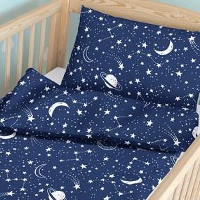 Goldea lenjerie pătuț din bumbac pentru copii - model 250 90 x 140 și 50 x 70 cm