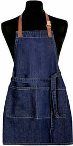 Șorț de bucătărie copii Jeans albastru închis, 50 x 70 cm