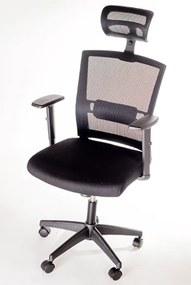 Scaun de birou ergonomic SCB 318 Negru