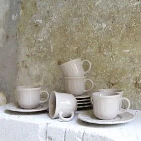 Set cu 6 cesti si farfurii Linen din ceramica