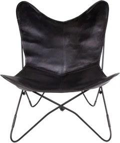 Scaun din piele House Nordic Colombo, negru