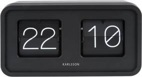 Ceas de birou Karlsson Bold Flip, negru