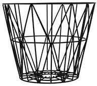 Cos Metalic Mediu cu Model Geometric - Metal Negru diametru(50cm) x inaltime(40cm)