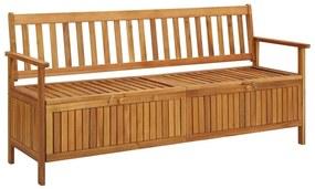 310281 vidaXL Bancă de depozitare grădină, 170 cm, lemn masiv de acacia