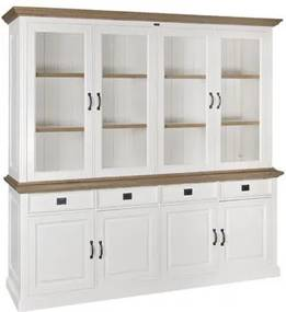 Bufet alb/maro din lemn si MDF 220 cm Oakdale XL Richmond Interiors