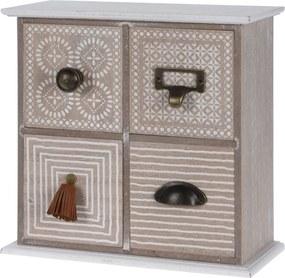 Cutie din lemn cu  4 sertare Maior, 25 cm