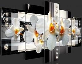 Tablou Bimago - Sunny orchids 100x50 cm