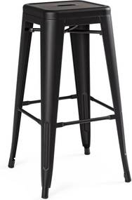 Scaun de bar fier negru Minessota 42.5 cm x 42.5 cm x 76 h