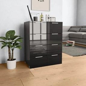 283713 vidaXL Servantă, negru extralucios, 60x35x76 cm, PAL