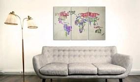 Tablou din plută - Colorful Countries 120x80 cm