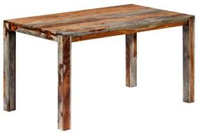 248008 vidaXL Masă de bucătărie, 140 x 70 x 76 cm, lemn masiv de sheesham