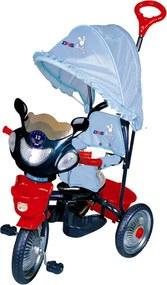 Tricicleta copii Dhs cu roti de metal Jolly Ride Albastru Rosu