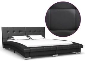 280619 vidaXL Cadru de pat, negru, 200 x 140 cm, piele artificială
