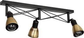 Lampa spot GORDON 3 3xE27/60W alamă antic