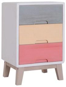 Homcom Dulapior din Lemn Colorat 3 Sertare, 30x34x51cm
