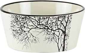 Bol servire din ceramică KJ Collection Tree Nostalgia, 400 ml
