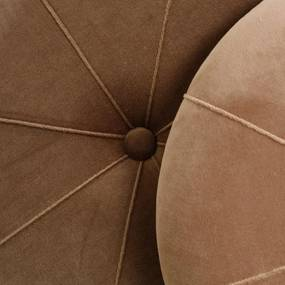 Set de 2 Pufuri CHEST Maro din Poliester cu Loc de Depozitare IXIA - Poliester Maro Diametru (40cm) x Inaltime (44cm) x Diametru (33.5cm) x Inaltime (