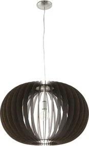 Pendul Stellato E27 max. 1x60W, Ø700 mm, lemn maro inchis