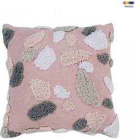 Perna decorativa patrata multicolora din bumbac 40x40 cm Terrazzo Rose Quartz Lorena Canals