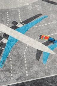 Covor pentru copii Airport - 140 x 190 cm