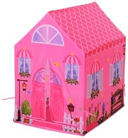 Homcom Cort Princess Play pentru Fete de peste 3 ani pentru Interior si Exterior Roz 93 x 69 x 103 cm