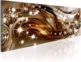 Tablou - Ribbon of Bronze and Glitter 120x40 cm