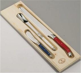 Set cuțite din inox pentru pâine și marmeladă, în cutie de lemn Jean Dubost Paris