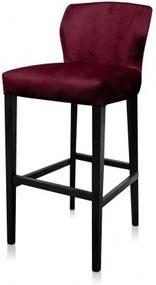 Scaun bar rosu din poliester si lemn de fag Jasy Passion Granate