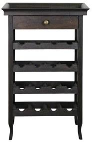 Suport pentru vinuri Dovero din lemn negru 52x36 cm