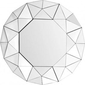 Oglinda rotunda cu rama din MDF argintie Vulcanus, 4,4cm (L / D) x 70cm (l) x 70cm (H)