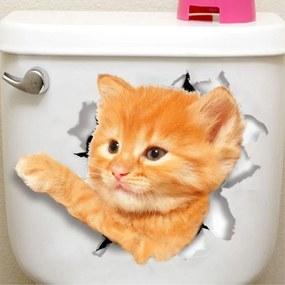Sticker decorativ Here I am Yellow Cat